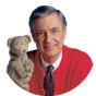 Mister Rogers' Neighborhood logo.