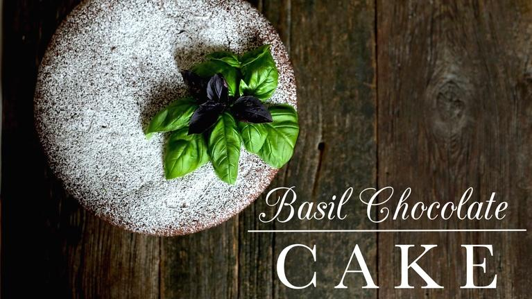 Kitchen Vignettes: Basil Chocolate Cake