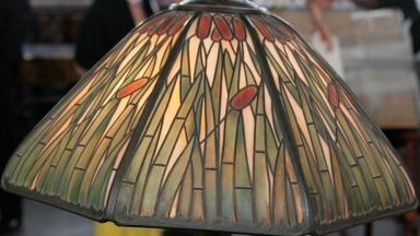 Appraisal: Handel Cattail Lamp, ca. 1915