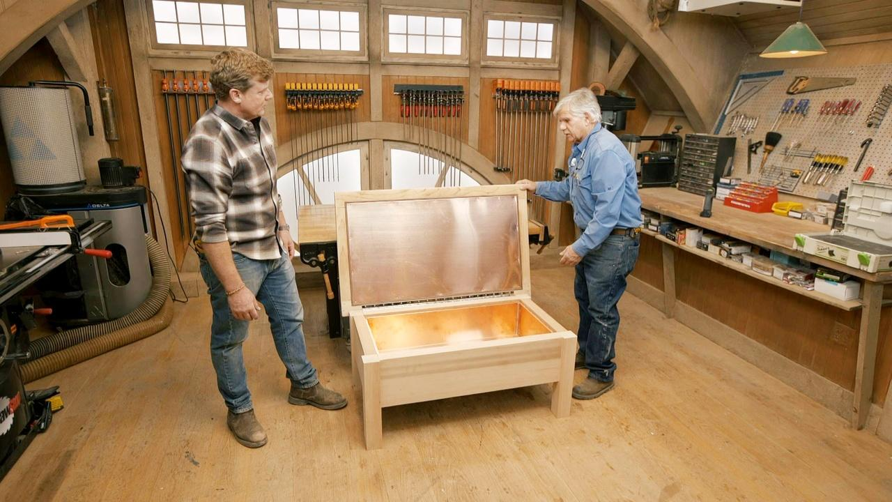 E18 | Move Baseboard, Cooler Bench | Ask This Old House