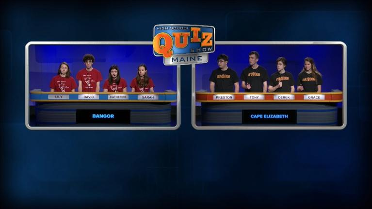 High School Quiz Show: Maine: Bangor vs. Cape Elizabeth - Episode 214