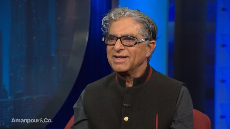 "Amanpour and Company: Deepak Chopra: ""We're Risking Our Extinction"""