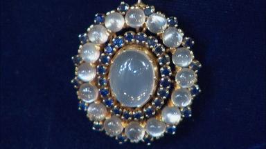 Appraisal: Tiffany Moonstone Necklace, ca. 1940