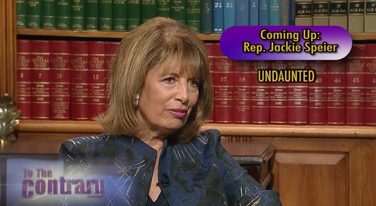 To The Contrary: Women Thought Leaders: Rep. Jackie Speier