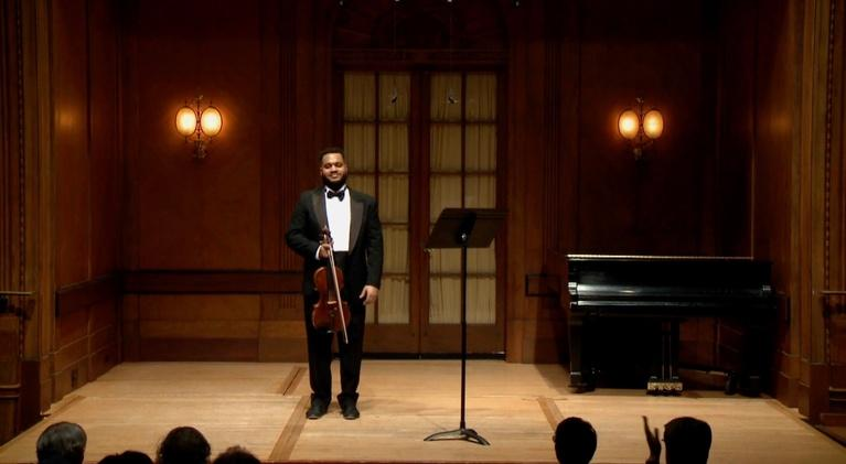 On Stage at Curtis: Violist Michael Casimir