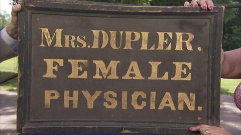 S24 E22: Appraisal: Female Physician Trade Sign, ca. 1835