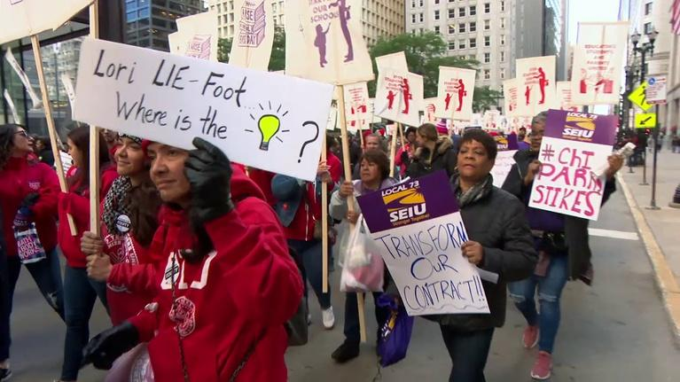 Chicago Tonight: CPS Teachers, Staff Rally and March as Strike Nears