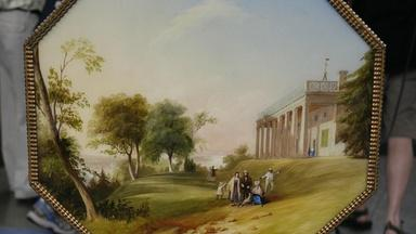 Appraisal: Rococo Revival Table Picturing Mount Vernon