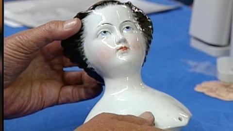 Appraisal: Schlaggenwald Doll Head, ca. 1845