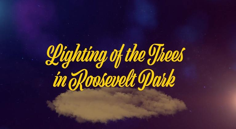 Lighting of the Trees in Roosevelt Park: Lighting of the Trees in Roosevelt Park