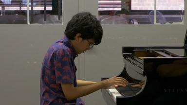 Joey Alexander at the Steinway & Sons Factory