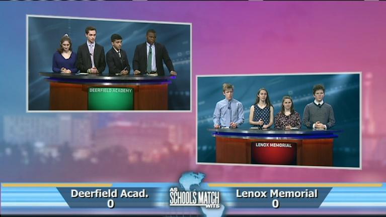 As Schools Match Wits: Semifinal #1: Deerfield Academy vs. Lenox (June 15, 2019)