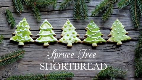 Kitchen Vignettes -- Spruce Tree Shortbread