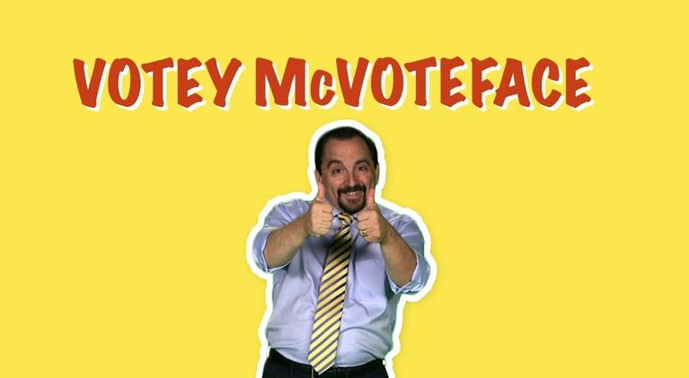Votey McVoteface: Don't Forget to Vote!