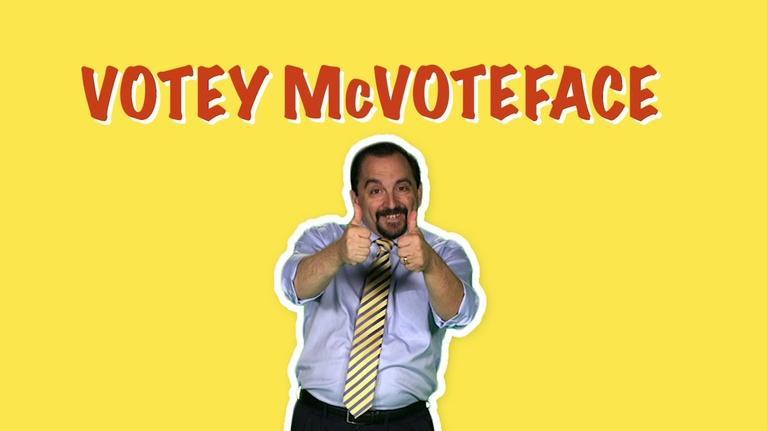 Votey McVoteface: Don't Forget to Vote!
