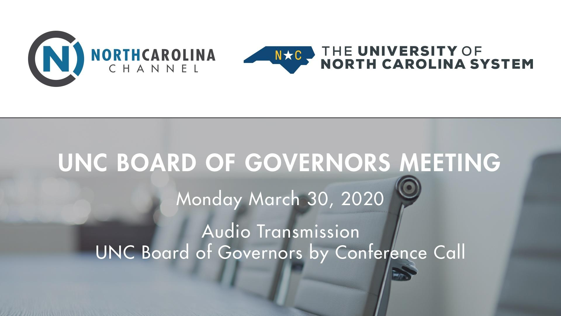 BOG 03/30/20: Special Meeting of the Board of Gove