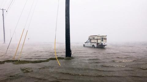 PBS NewsHour -- Hurricane Harvey evacuees describe 'chaos'