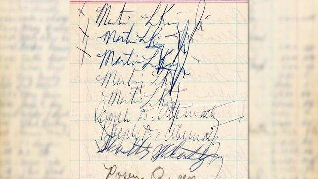 Rare Martin Luther King, Jr. signatures found in jail log