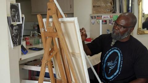PBS NewsHour -- How prison has shaped one artist's view on social distancing