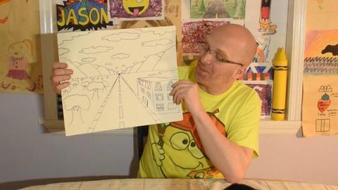 One Point Perspective Landscape - Jason DeMaria -Third Grade