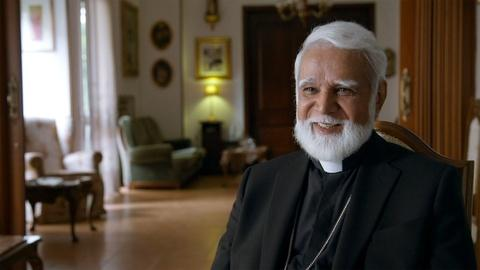 Archbishop Joseph Coutts Shops for a New Cassock