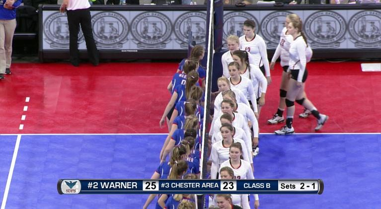 High School Activities: Class B Volleyball Semifinal Match Number 2