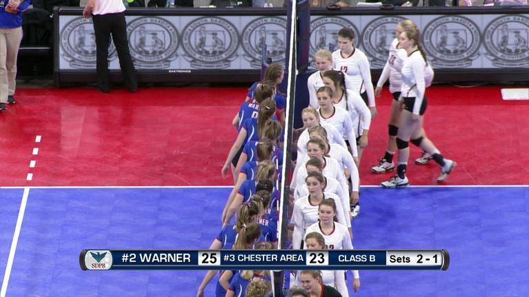 High School Activities: Class B Volleyball Semifinal Match Number 2