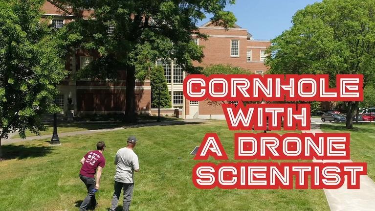 SCI NC: Cornhole with a DRONE researcher