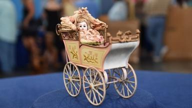 Appraisal: Miniature Märklin Carriage & German Doll