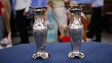 Appraisal: Gorham Martelé Pair of Silver Vases, ca. 1904