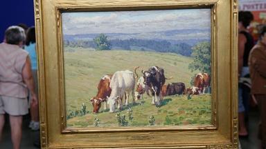 """Appraisal: 1927 Edward Volkert """"Avon Hills Pasture"""" Oil"""