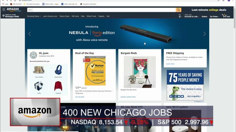 Chicago Tonight: Crain's Headlines: Amazon Adds 400 Jobs to Chicago Office