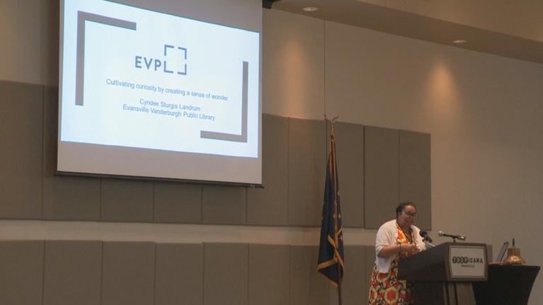 Evansville Rotary Club: Regional Voices: Cynthia Sturgis Landrum, CEO, EVPL