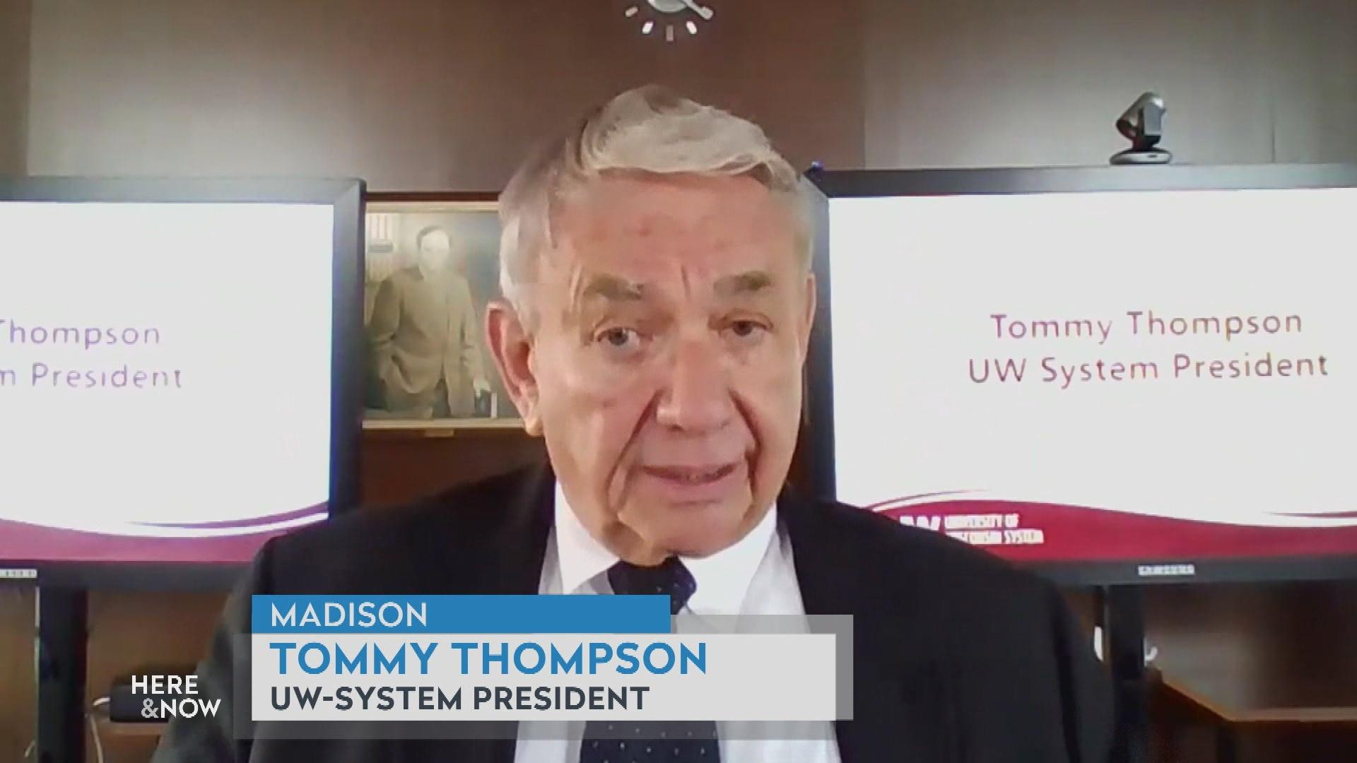 UW System President Thompson on Rapid Test Sites