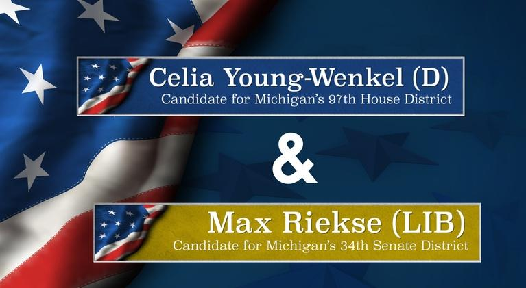 Meet the Candidates on CMU Public Television: Meet the Candidates Young-Wenkel (D-97) and Riekse (LIB-34)