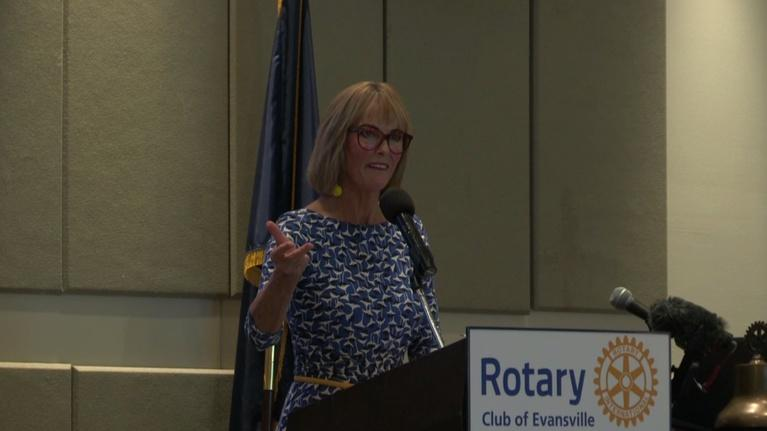 Evansville Rotary Club: Regional Voices: Lt. Gov. Suzanne Crouch, State of the State