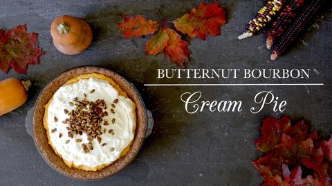 Kitchen Vignettes -- Butternut Bourbon Cream Pie
