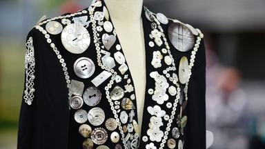 Appraisal: Mother-of-Pearl Button Suit, ca. 1970