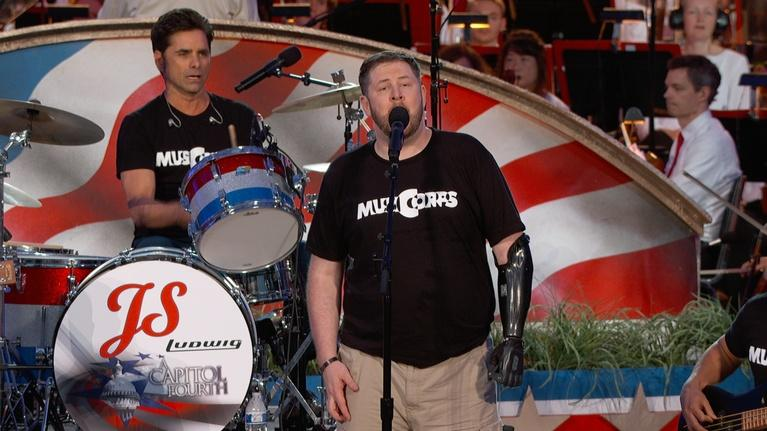"A Capitol Fourth: MusiCorps and John Stamos Perform ""Chicken Fried"""