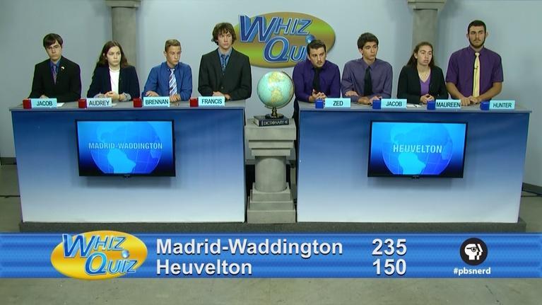 Whiz Quiz: American Finals Madrid Waddington vs. Heuvelton 2017