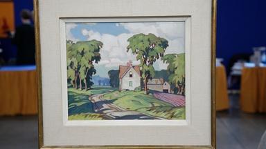 Appraisal: Alfred Joseph Casson Landscape Oil, ca. 1935