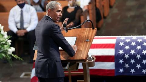 At John Lewis' Atlanta funeral, a legacy of heroism and hope