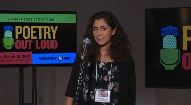 Vermont Poetry: Poetry Out Loud - Vermont Finals 2018