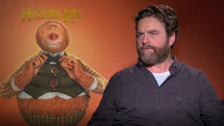 "Flicks: Zach Galifianakis for ""Missing Link"""