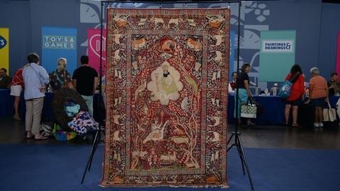 S20 E24: Appraisal: Persian Lavar Kirman Pictorial Rug, ca. 1900
