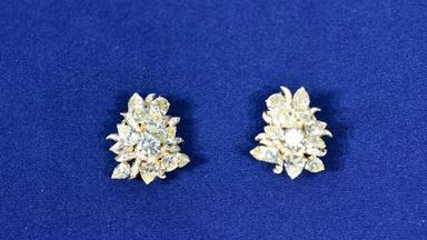 Julius Cohen Yellow Diamond Earrings, ca. 1970