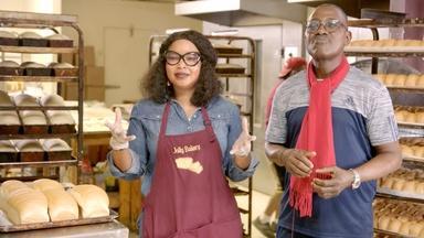 James and Jolly Onobun at Jolly Jolly Bakery