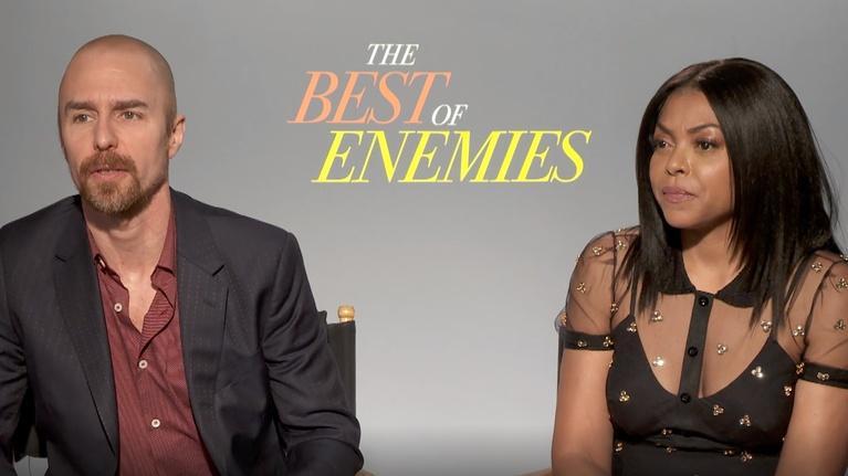 """Flicks: Sam Rockwell & Taraji P. Henson for """"The Best of Enemies"""""""