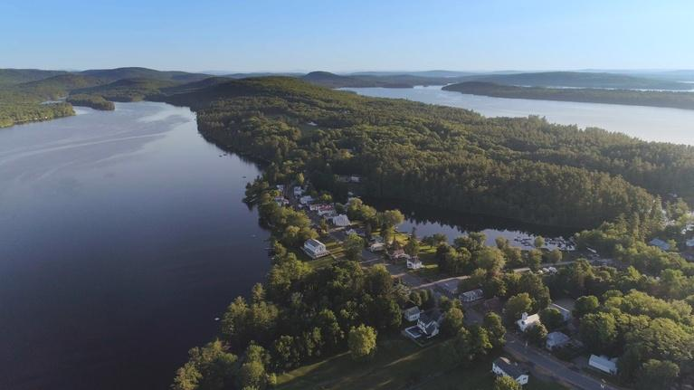 Assignment: Maine: Belgrade Lakes, From Above