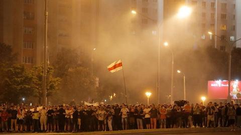 PBS NewsHour -- Lukashenko's disputed victory sparks unrest in Belarus